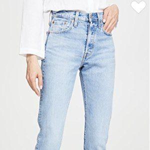 Unworn women's XS 24x28 Levis 501 Skinny Jeans